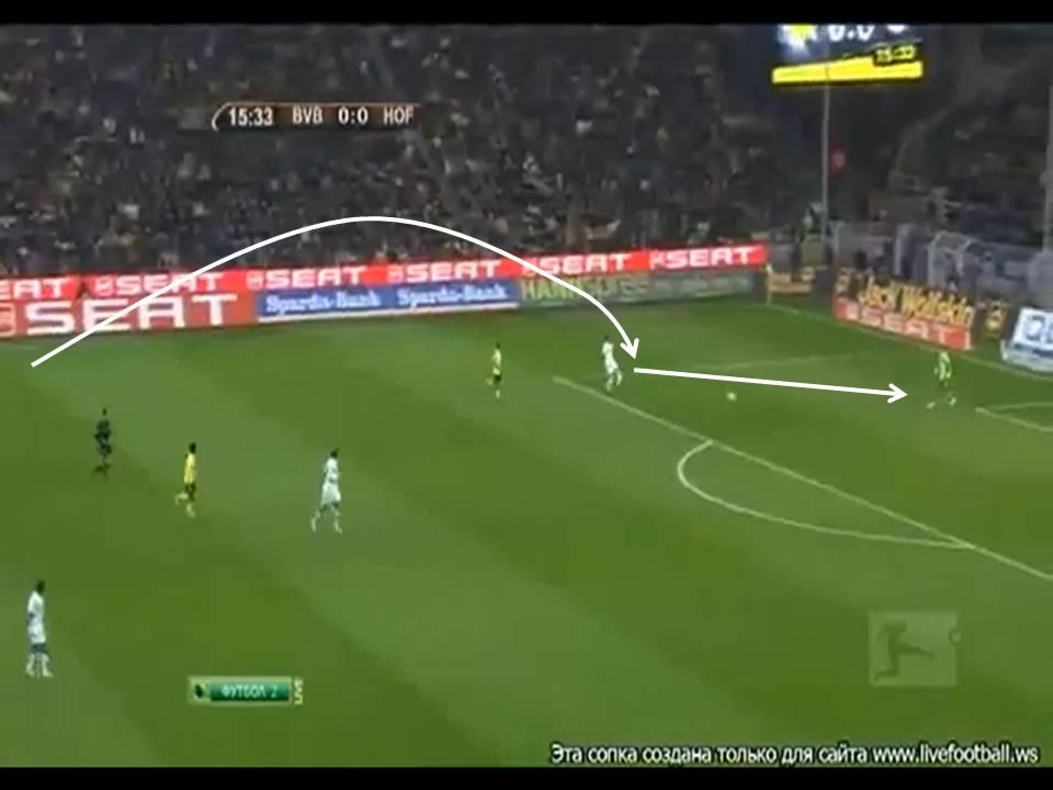 Védett: 2012: Játékhelyzetanalízis. Hogyan rúgassunk gólt az ellenféllel? Dortmund-Hoffenheim 3-1